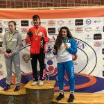 """Татьяна Кабанова, """"серебро"""", весовая категория до 61 кг."""