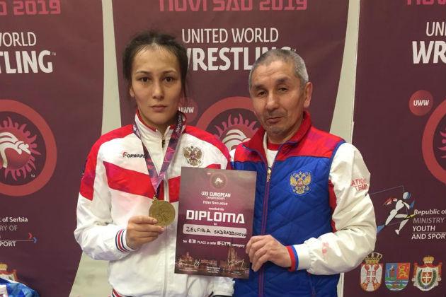 Зельфира Садраддинова и ее тренер Сафрон Якучаков.